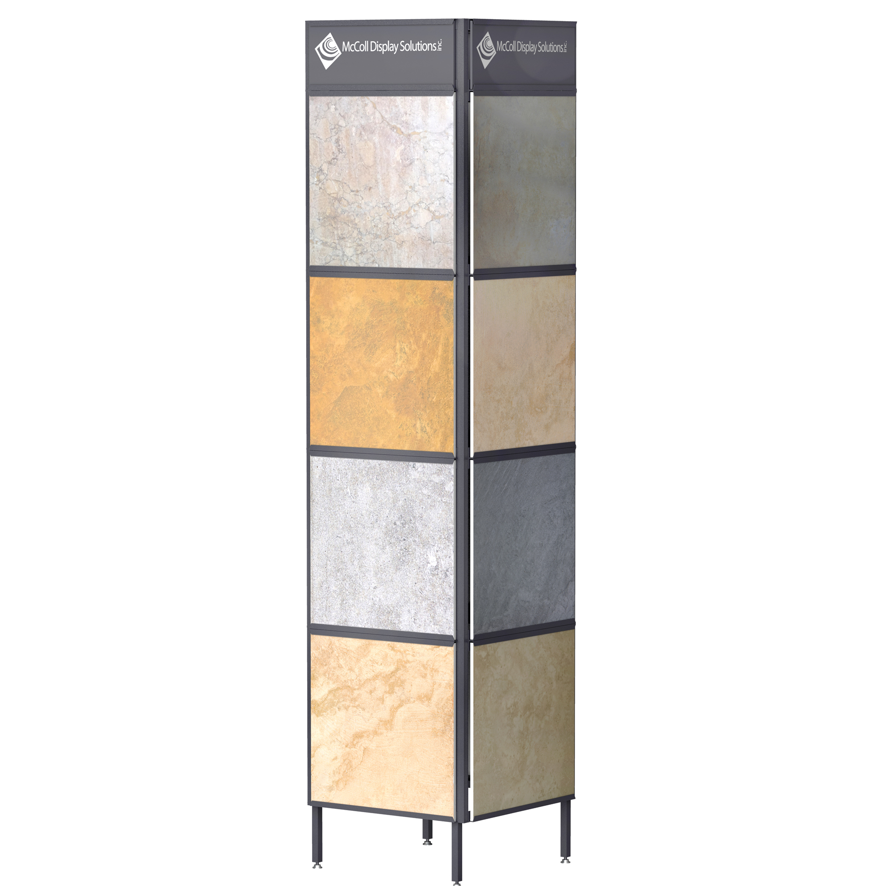 The Sturdy CD07 Steel Tower Channel System Holds Ceramic Stone Marble Travertine Tiles