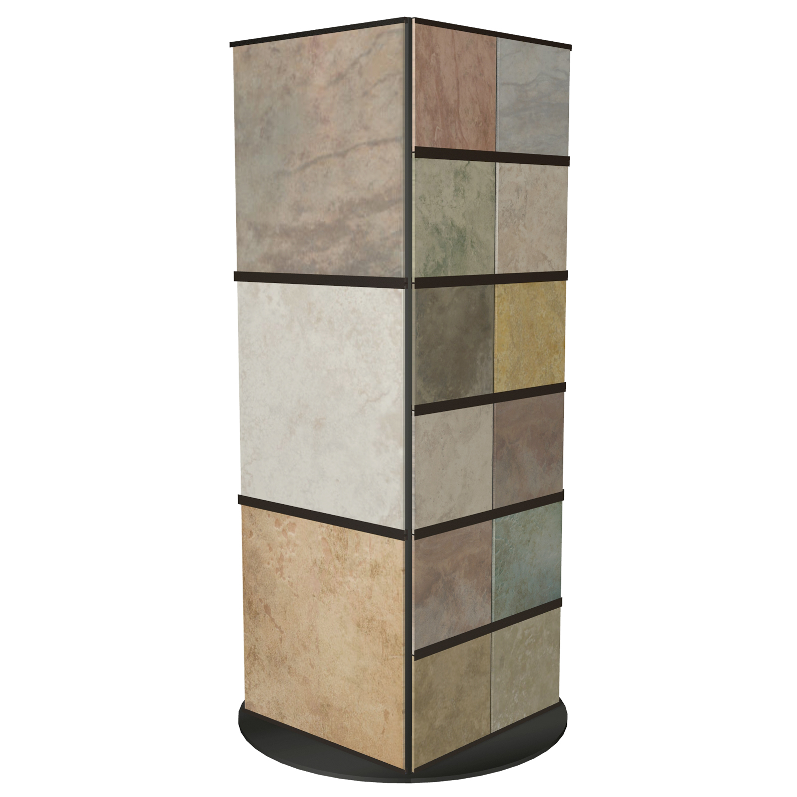 CD10 Tower can be Customized to Display Large Tile Stone Marble or Quartz Samples Rotating Base Makes for Great Viewing