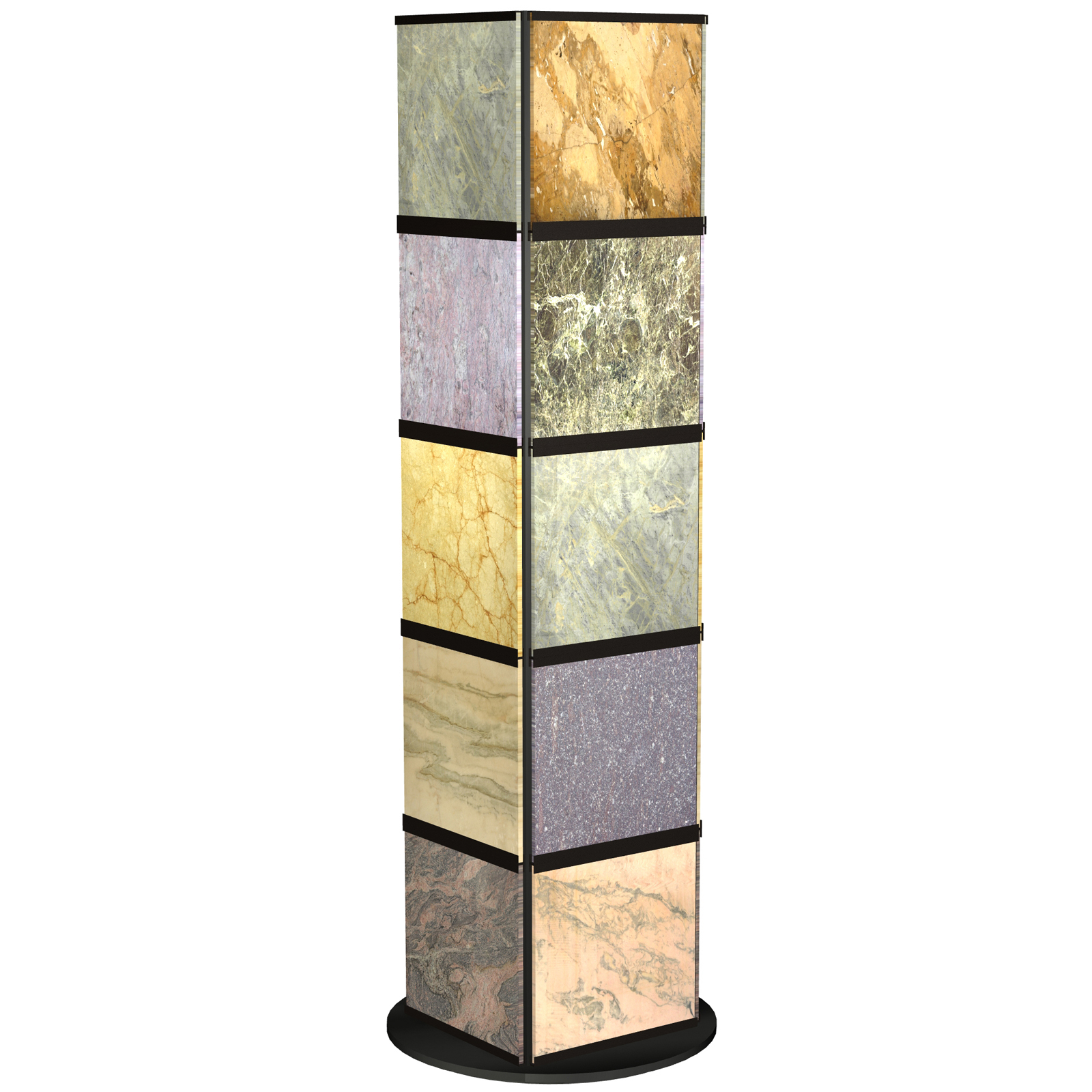 CD10 Rotating Tower Showroom Display for Ceramic Tile Stone Marble Samples