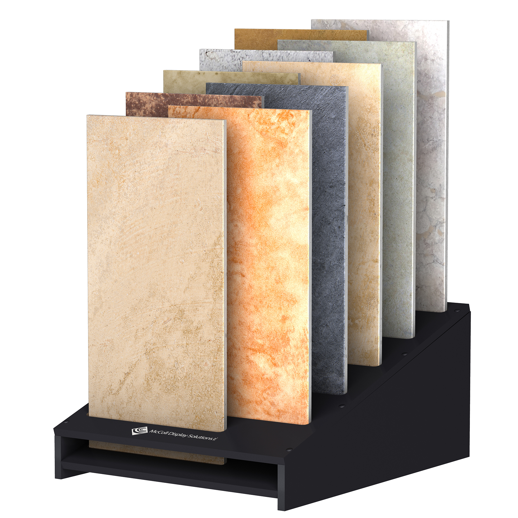 CD23 Staggered Samples Stone Marble Ceramic Flooring Tiles Easy to Customize Showroom Display