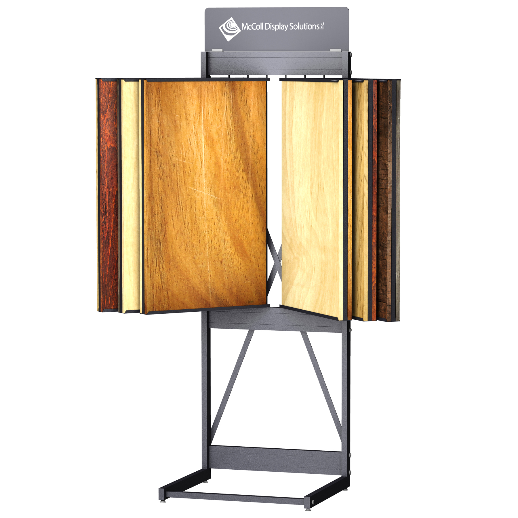 CD246 Wing Rack Tower Stand Channel System for Hardwood Laminate Reclaimed Wood Plank