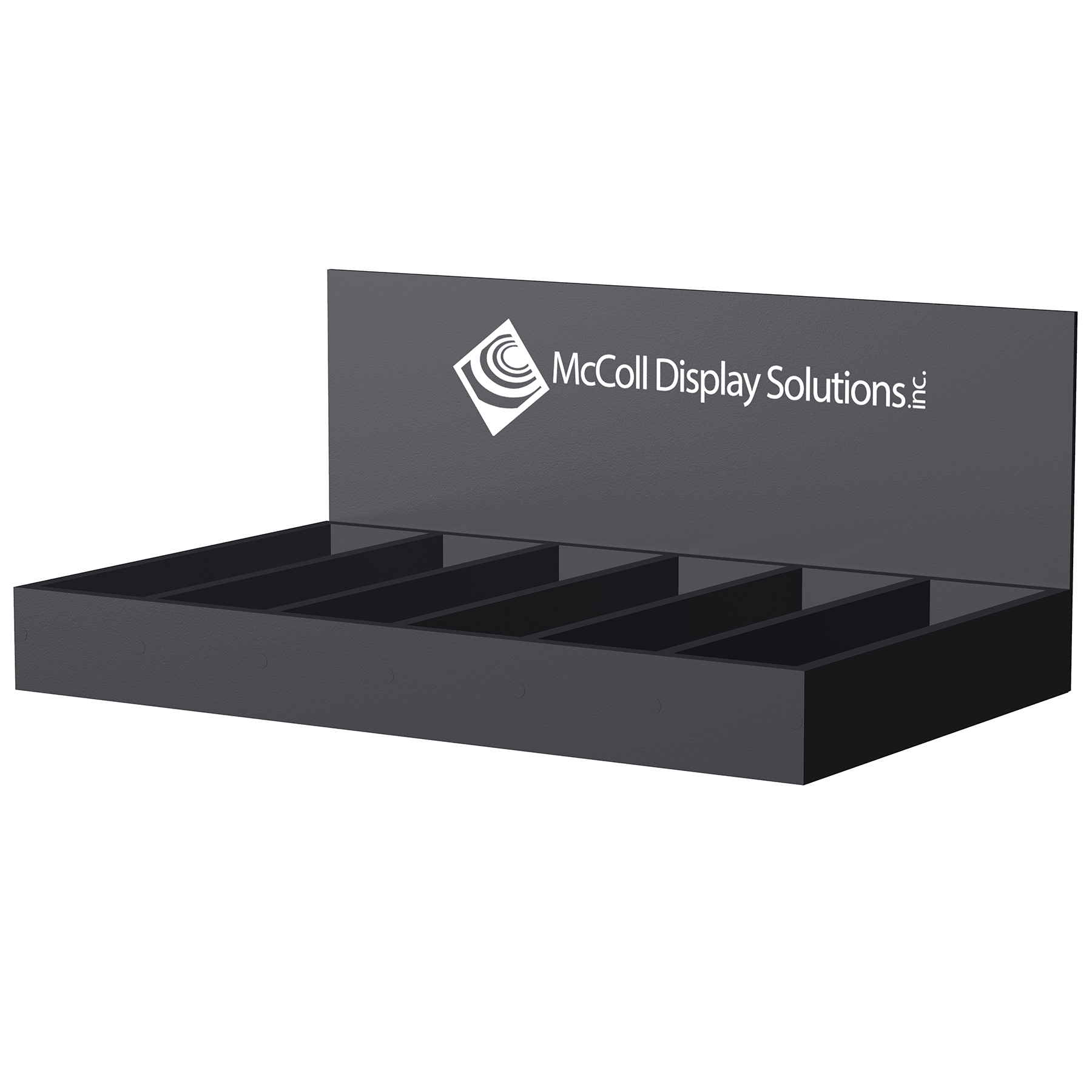 Easy to Customize CD25 Countertop Box Choose Substrate Color and Add Optional Signage Screen Print or Full Color