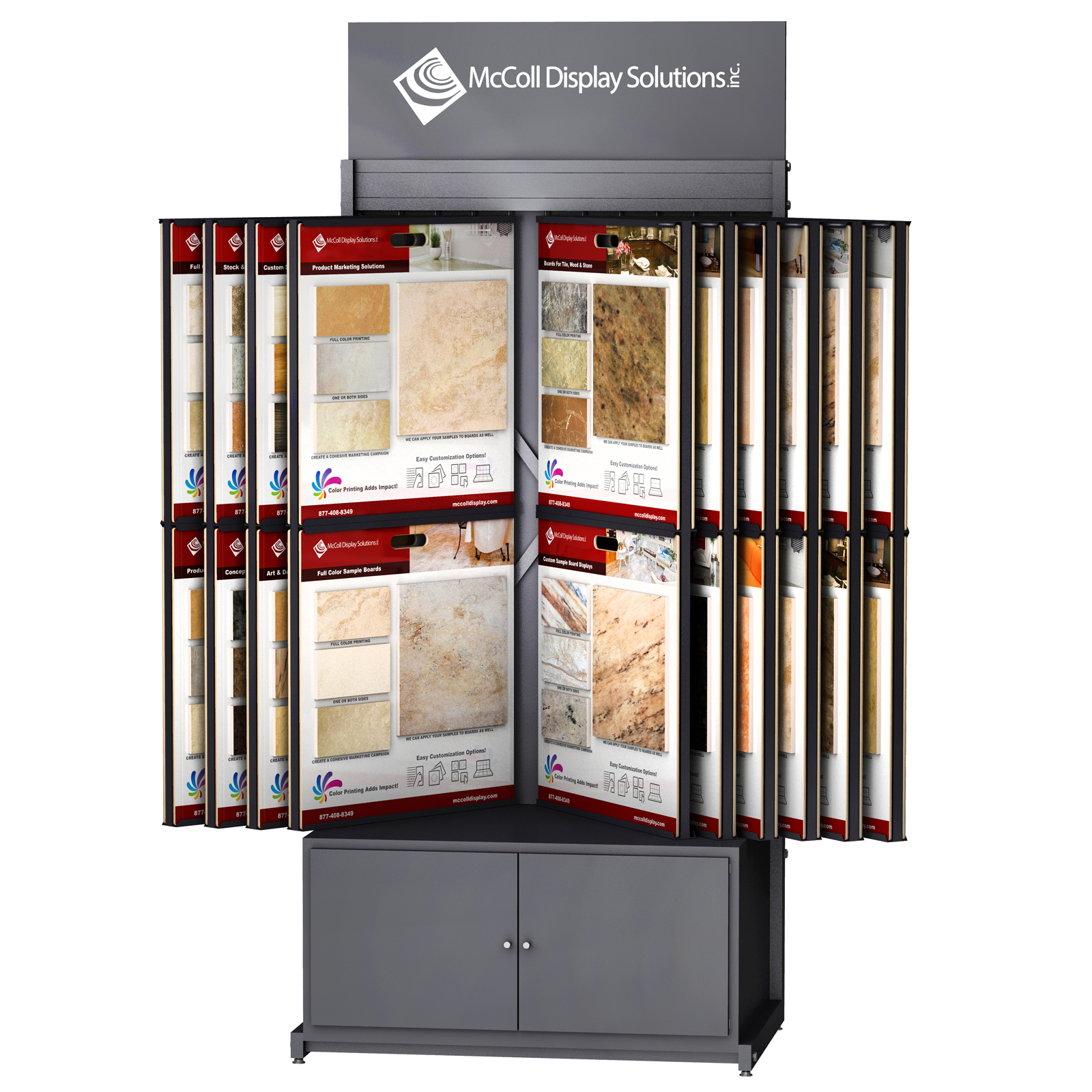 CD32 Wing Rack Channel System Tower with Storage Drawer Cabinet for Sample Boards Holds Tile Stone Marble Hardwood Flooring