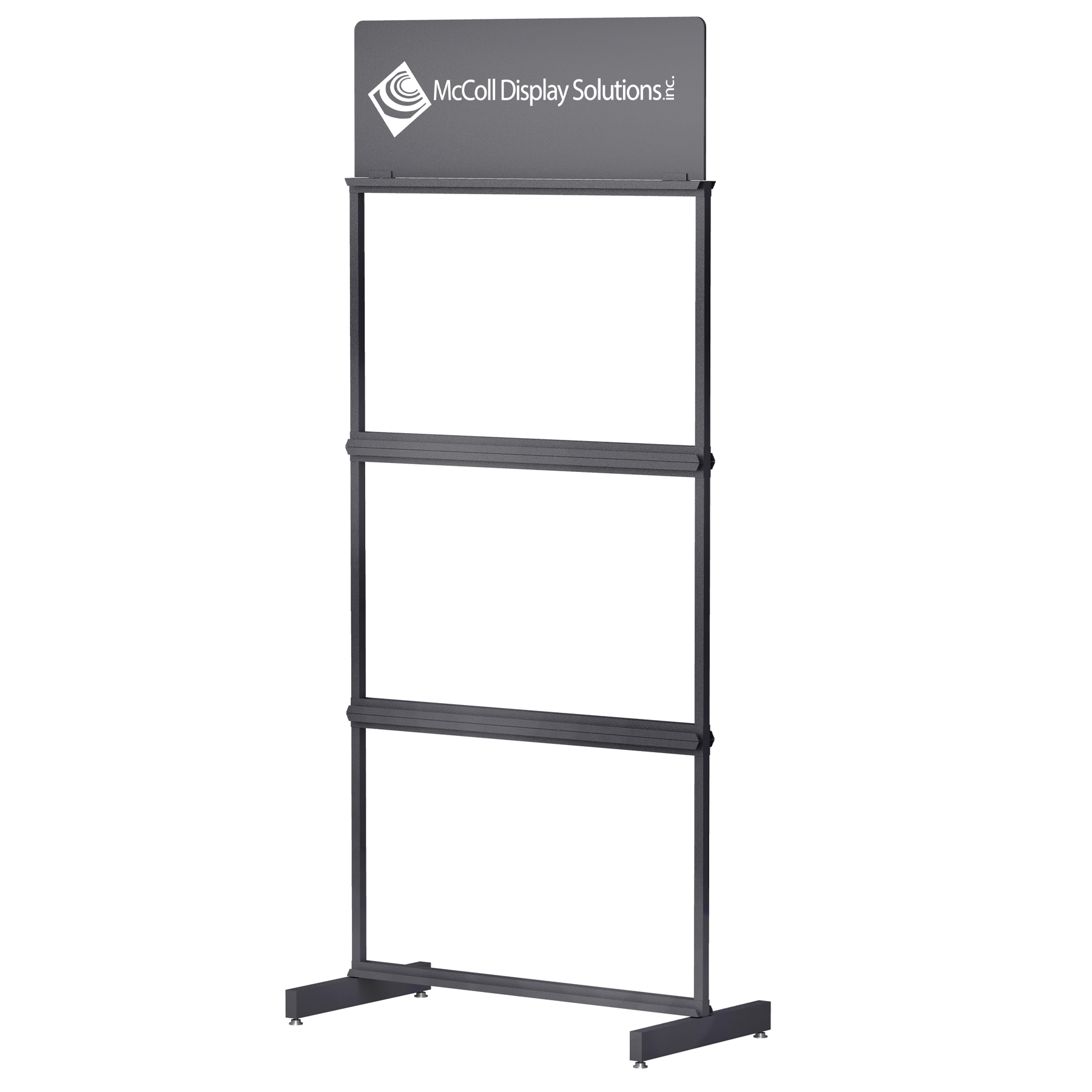 CD43 Sturdy Steel Tube Tower Channel System Custom Colors and Screen Printed Logo Signage Available