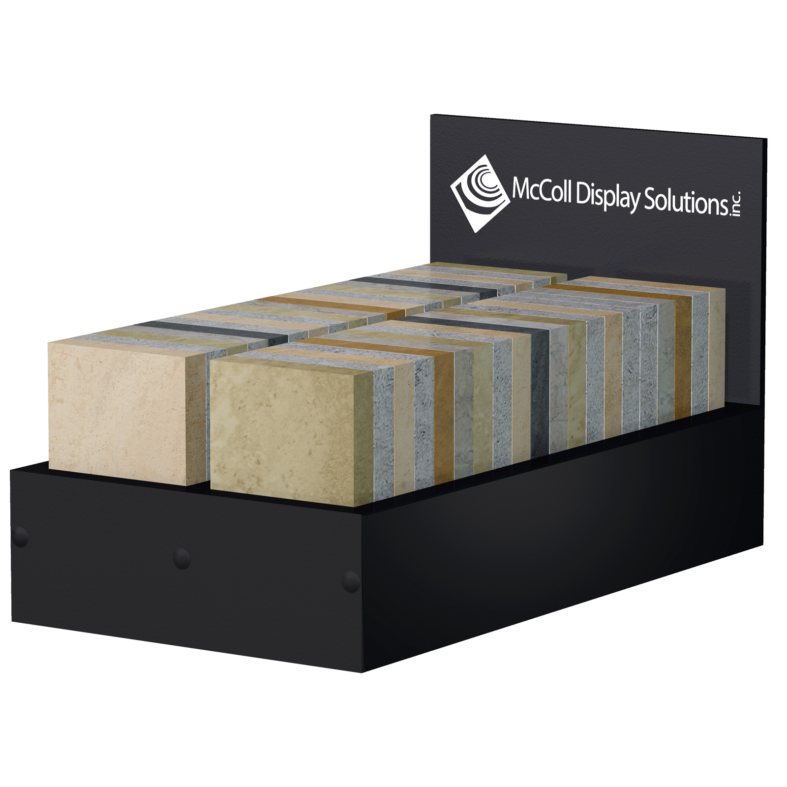 CD58 Countertop Tabletop Box Customizable for Samples Ceramic Tile Stone Marble Counter Composite Hardwood Showroom Display