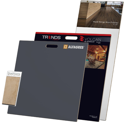 Custom MDF and Sintra Sample Display Boards and Chipboards for Tile Stone Wood Flooring