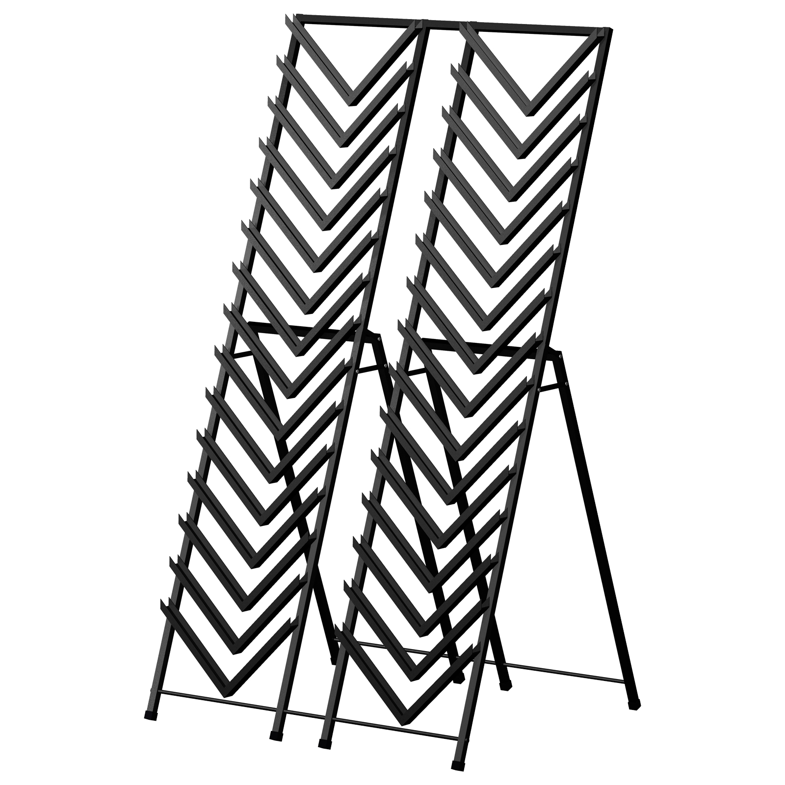 D30 Easel A-Frame Tower Sturdy Steel Double Front Load Ceramic Tile Stone Marble Channel System Showroom Display