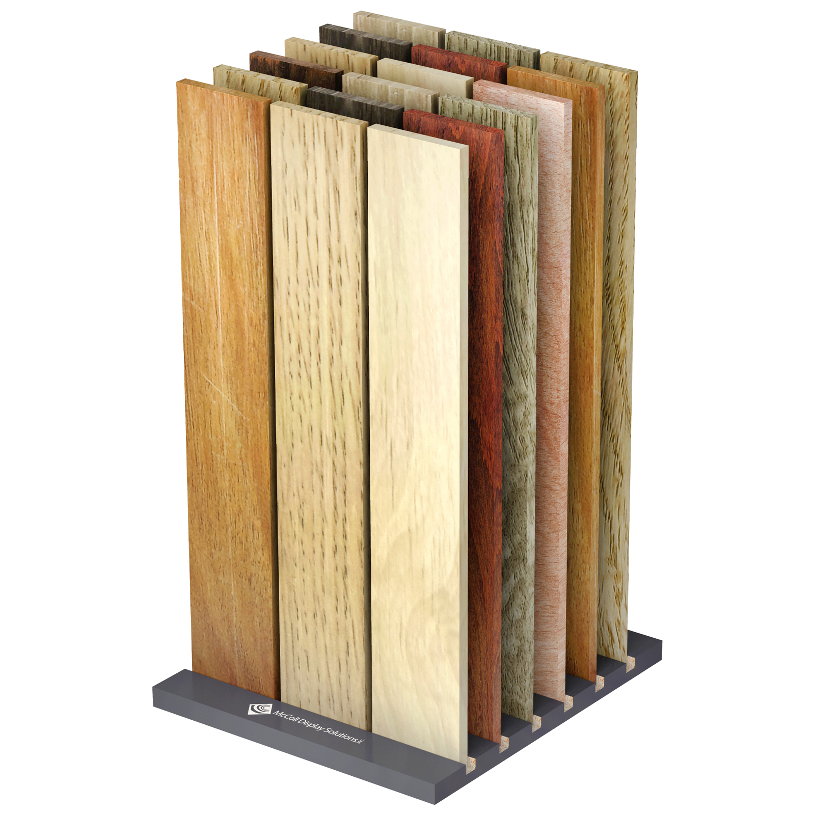 Floor or Counter or Tabletop Slab Display For Wood Hardwood Laminate Bamboo Reclaimed Plank Flooring Customize Ships Fully Assembled