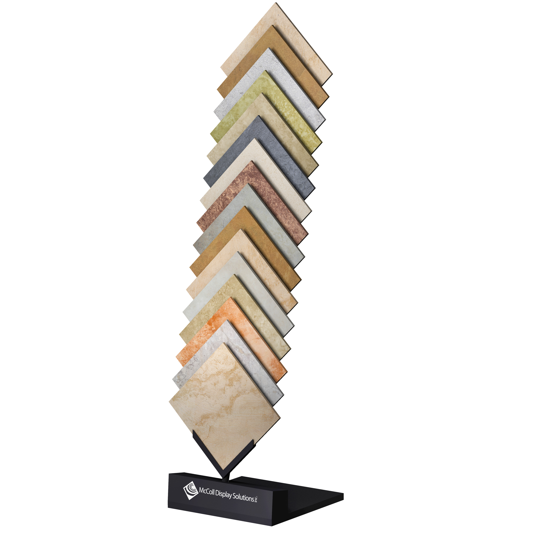 McReady Sample Rack Tower Easy Shipping Displays Ceramic Tiles Stone Marble Quartz Granite Samples Showroom Display Made in the USA