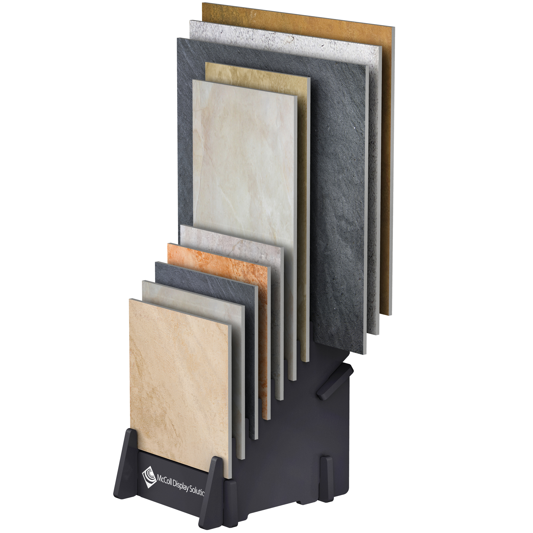 ST10 Slip-Fit Easy Assembly Ten Slot Display In Stock Ready to Ship Holds Ceramic Tile Flooring Showroom Samples