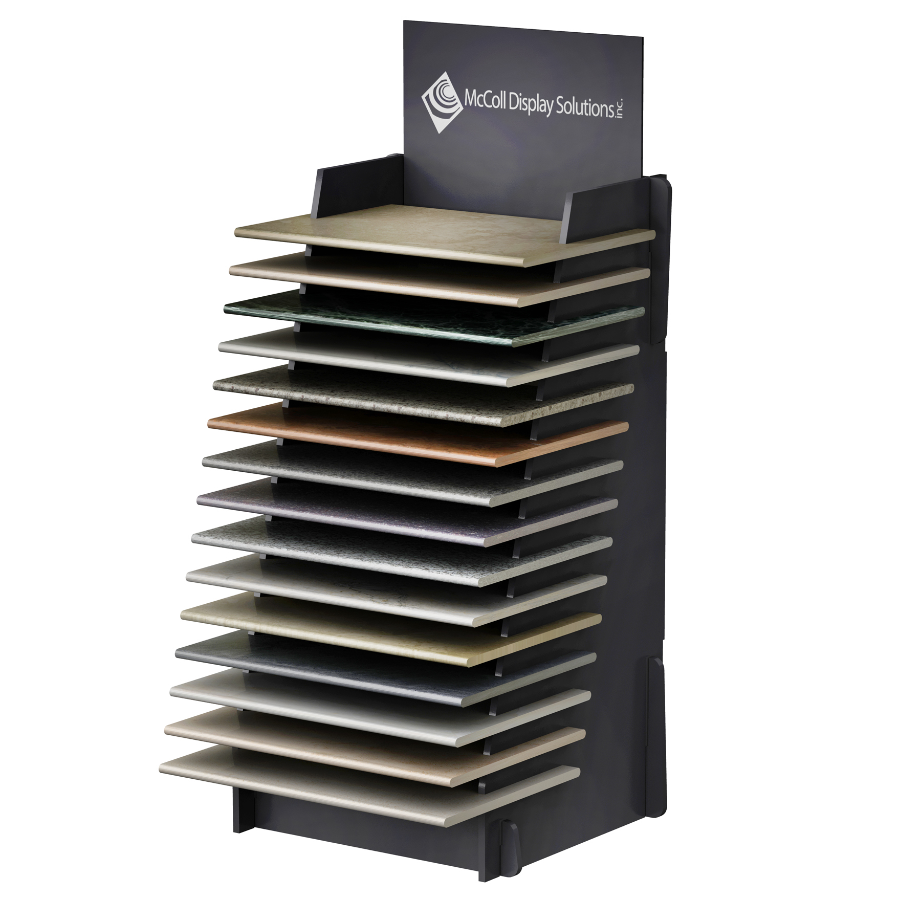 ST99 Pool Coping Tower Shelf Display System Also Holds Hardwood Plank Ceramic Tile Granite Marble Flooring Economical Price